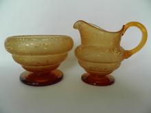 Creamer and Sugar Bowl Riihimäen lasi