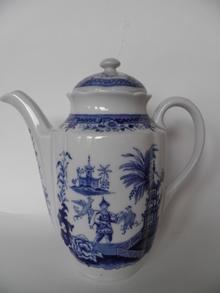 Singapore Coffee Pot blue