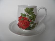 Pomona Portmeirion pieni kahvikuppi ja aluslautanen Punaherukka
