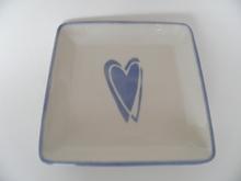 Plate Heart lightblue Pentik
