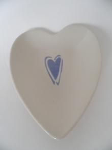 Sydänlautanen vaaleansininen sydän Pentik