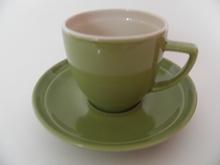 Oliivi -kahvikuppi vihreä