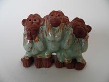 Kolme Apinaa -figuuri Kupittaa Savi MYYTY