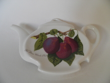 Pomona Portmeirion Teabag Plate dark Plum