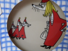 Moomin Plate Fillyjonk two-sided Arabia