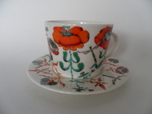 Korento Coffeecup and Saucer orange Iittala