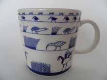 Birds Blue Mug Oiva Toikka Arabia SOLD OUT