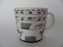 Birds Grey Mug Oiva Toikka Arabia