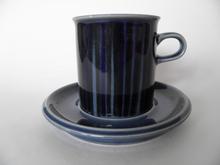 Kosmos -kahvikuppi ja aluslautanen sininen MYYTY