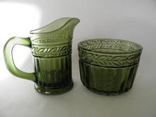 Kara Creamer and Sugar Bowl green