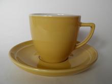 Oliivi -kahvikuppi keltainen