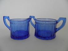 Hugo Creamer and Sugar Bowl blue
