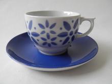 Armi kahvikuppi ja aluslautanen sininen Arabia MYYTY