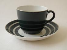 Kahvikuppi ja aluslautanen Rengas tummanvihreä Arabia