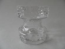 Mesimarja Vase/Candleholder clear glass Tamara Aladin