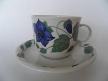Tea for two teekuppi ja aluslautanen sininen