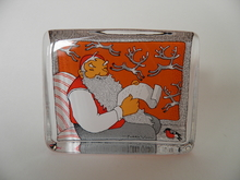 Lasikortti Joulupukki Iittala