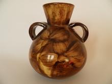 Vase brown Kupittaan savi