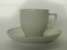 Olive Coffee cup and Saucer white