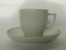 Oliivi -kahvikuppi valkoinen