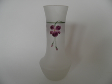 Vase handpainted with violets