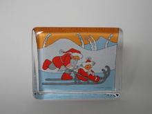 Joulupukki ja muori -lasikortti Iittala MYYTY
