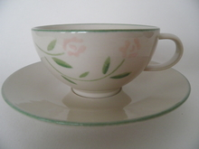 Rose Tea Cup and Saucer Pentik