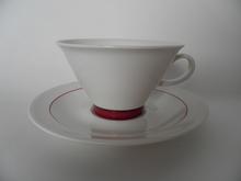 Harlekin Red Hat Teekuppi ja aluslautanen Arabia