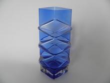 Pablo Vase blue Riihimäen lasi