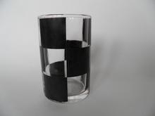 Juomalasi Marimekko Musta ruutu