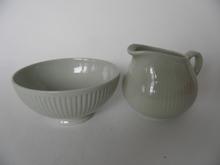 Sointu Sugar Bowl and Creamer green