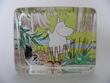 Happy Moomintroll - Glass card