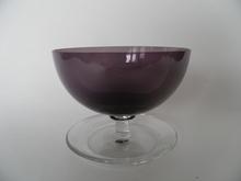 Jälkiruokamalja viininpunainen Saara Hopea