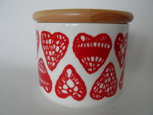 Christmas Heart Kitchen Jar Arabia