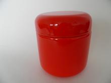 Finel punainen emalipurkki