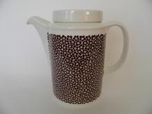 Faenza kahvikannu ruskeakukkainen Arabia