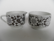 Gardenia Sugar Bowl and Creamer Arabia