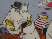 Moomin Wall Plate Moomin Family on a Float