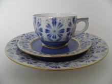 Sinikka kahvikuppi ja 2 lautasta Arabia