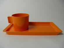 Fiskamin aamiais/kahvisetti oranssi