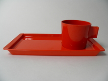 Fiskamin aamiais/kahvisetti punainen