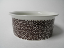 Faenza Bowl brown Flowers Arabia