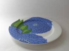 Primavera -lautanen sininen