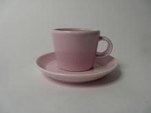 KoKo espressokuppi ja aluslautanen vaaleanpunainen MYYTY