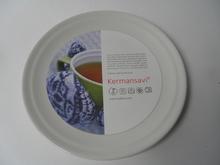 Oliivi -salaattilautanen valkoinen Kermansavi