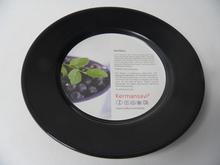Neilikka lautanen 17 cm musta