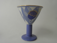Zeebra Footed Glass blue