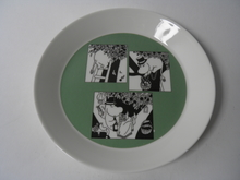 Moomin Plate Cartoon green