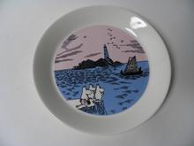 Muumi-lautanen Iltapurjehdus