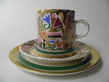 Bebop kahvikuppi ja 2 lautasta Arabia MYYTY